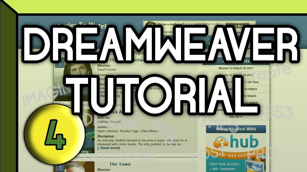 HTML5 & CSS3 | 2 Column Website | Dreamweaver Tutorial