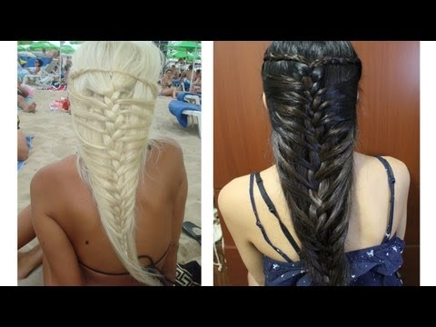 Mermaid French Braid Hairstyle Hair Tutorial