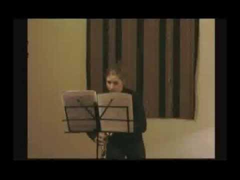 Cuatro diminutas piezas para clarinete solo en la .Marisol Gentile