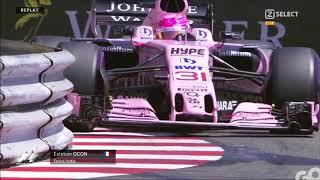 Le duel Ocon - Perez avant le GP d'Italie 2017