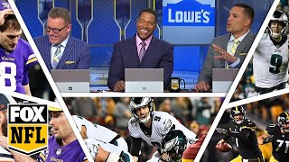 FOX NFL crew break down Week 17 Eagles, Vikings & Steelers | FOX NFL