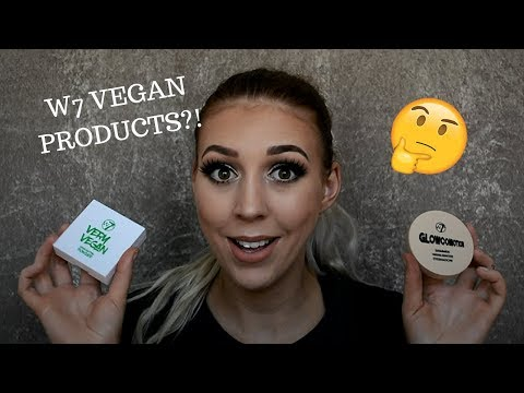 W7 VEGAN MAKEUP?!   FIRST IMPRESSION AND REVIEW   $5 MAKEUP PRODUCTS!!