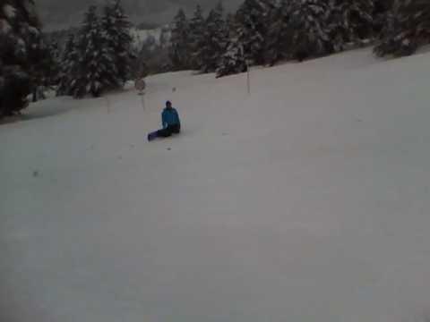☆均誠☆スノーボード:危険なジャンプ(万座温泉スキー場)