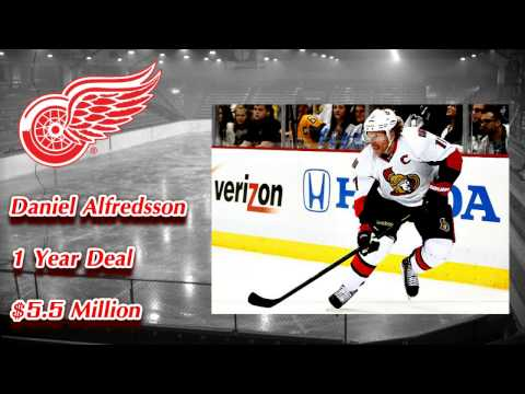 Red Wings Sign Daniel Alfredsson