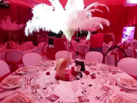 decoration de salle theme cabaret mariage theme cabaret decoration theme rouge et blanc deco. Black Bedroom Furniture Sets. Home Design Ideas