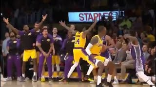 Lakers GO CRAZY Brandon Ingram Inbound Play, SLENDERMAN DEFENSE!