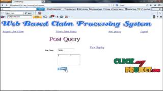 Final Year Projects | Web Based Claim Processing System