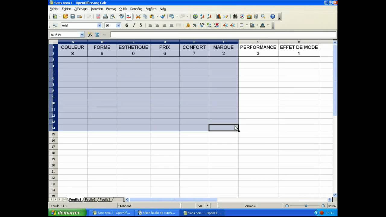 6 me open office calc lien entre un tableau et un diagramme youtube - Diagramme sur open office ...