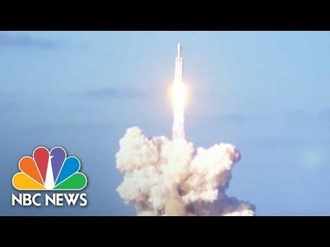 SpaceX's Falcon Heavy Rocket Launch | NBC News