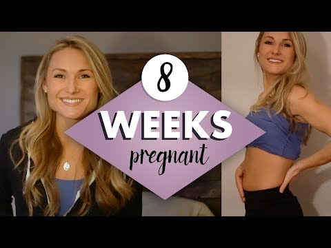 8 WEEKS PREGNANT - Cravings, Symptoms, Everything in Between & the Belly