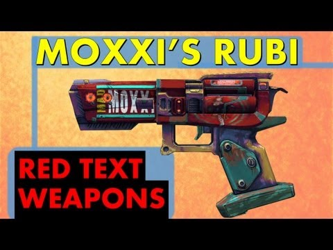 LVL 61 Moxxi's Rubi - Heal Yourself! | Red Text Weapons | Borderlands 2 Rare and Unique Pistol