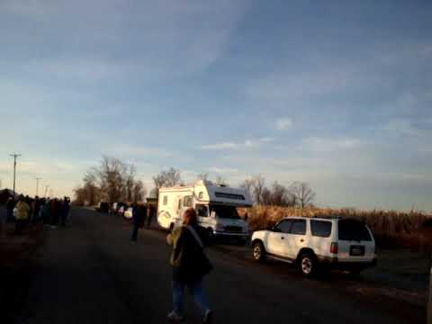 Operation Migration Leads 2009 Whooping Cranes - Winnebago Co. Illinois IL