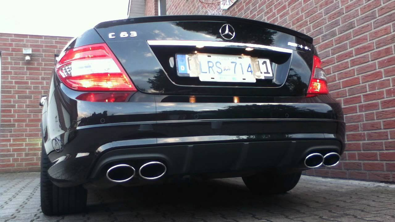 Our C63 Amg Hear The Sound Exhaust Sound Youtube