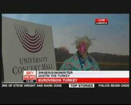 Dustin The Turkey on Sky News (Ireland Eurovision 2008)