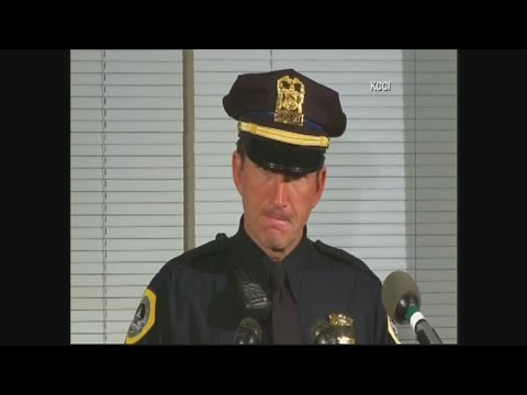 Police Officers in Iowa hold news conference on 2 officers shot and killed in ambush-style attacks