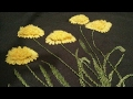 Hand embroidery grass flower with lazy Daisy and ring/ chhalla stitch without aari MP3