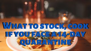 What to stock, cook if you face a 14-day quarantine | Keto die