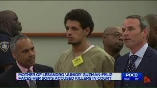 Junior`s mom faces suspects accused of killing her 15-year-old son