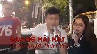 Quang Hải hát CƠN MƯA TÌNH YÊU cùng bạn gái xinh đẹp