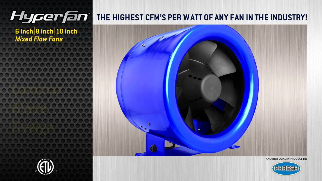 Hyper Fan Mixed Flow Fans 6 Inch 8 Inch 10 Inch