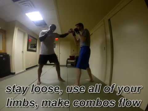 Basic Kickboxing drills and 4 & 4 drills with street application the Life Sensei Image 1