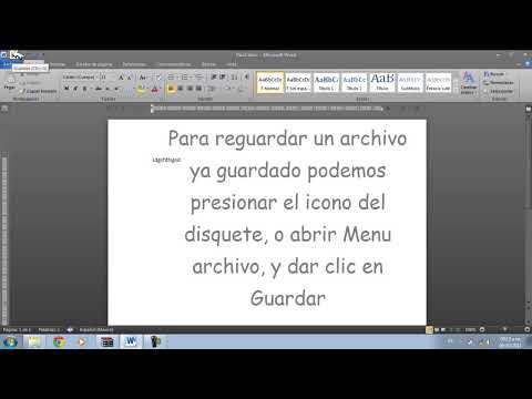 Como guardar un documento de Microsft Word