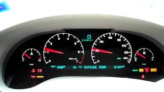 2000 Cadillac Seville Instrument Panel Startup