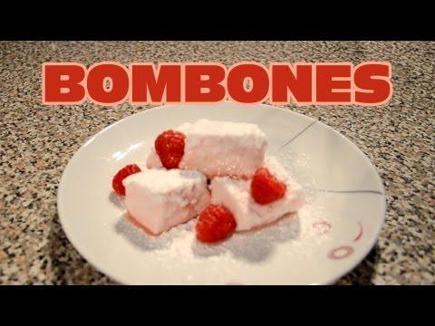 Bombones (Malvaviscos) de Frambuesa| Recetas faciles de cocina | Recetas de postres facil