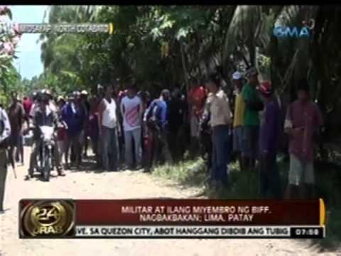 Militar at ilang miyembro ng BIFF, nagbakbakan sa Midsayap, North Cotabato; Lima, patay