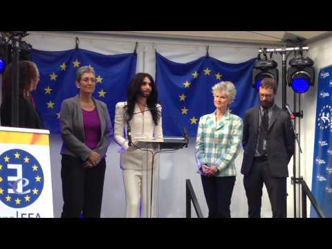 [FULL] Conchita Wurst Speech at the European Parliament, Esplanade Brussels