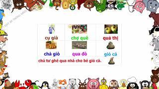Bé học chữ | Em tập ghép vần tiếng việt lớp 1 các chữ quả, ngã, ngô, ngõ, nghĩ | Dạy bé thông minh