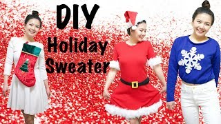 DIY Holiday Sweater/Fast, Easy Affordable Ideas/Super Last Minute