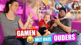 GAMEN met onze PAPA EN MAMA!! [Frantics Spelen Op PS4] ♥DeZoeteZusjes♥