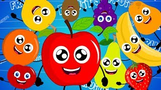 Ten Little Fruits | Original Nursery Rhyme For Kids | Video For Children | Baby Rhymes | Kids Tv