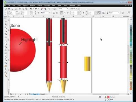 Learn CorelDraw - Tutorial in HINDI - 6- Realistic Shading-part 2