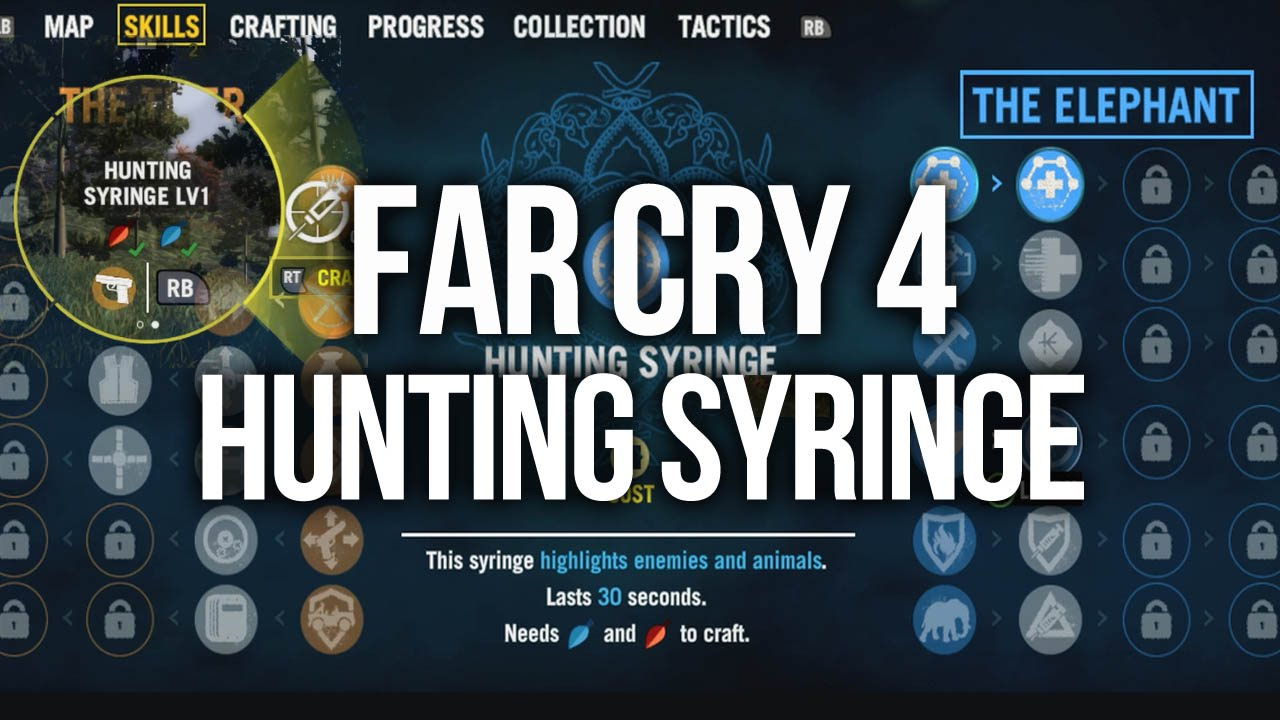 how to make hunting syringe far cry 4