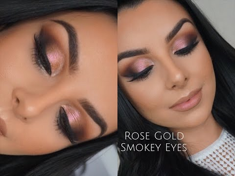 ROSE GOLD SMOKEY EYES   TUTORIAL   Serena Cleary