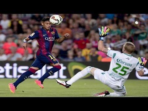 Barcelona vs Club Leon 6 - 0 resumen y goles (18-08-2014) Parte 1