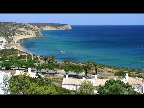 Praia Salema Vila do Bispo Algarve Portugal (HD)
