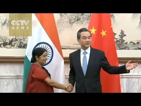 Chinese FM Wang Yi meets Indian counterpart