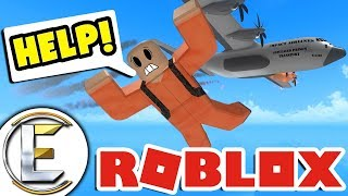 DAM THIS PARACHUTE DOESN'T WORK in ROBLOX   NEW MAP/GUN ( Roblox funny Prison Royale )