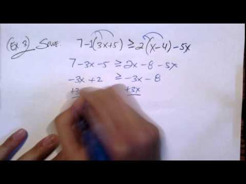 College Algebra: [1.2] Linear Inequalities One Variable + Interval Notation