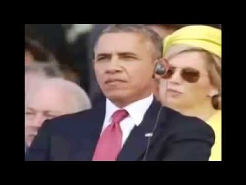 Barack Obama Chews Gum at D Day 70th Anniversary Ceremony VIDEO
