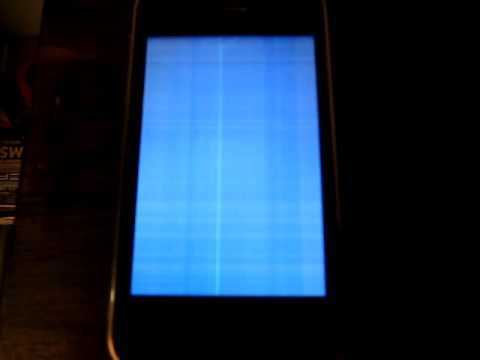 Iphone 4 Blue Screen of Death Iphone Blue White Screen of