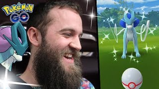 WE GOT THE SHINY SUICUNE AND THE 100% SUICUNE! (POKEMON GO SUICUNE RAID DAY)
