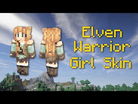 Elven Warrior Girl Minecraft Skin