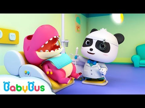 Doctor Panda Cures Baby Dinosaur's Toothache | Doctor Pretend Play | Kids Song | BabyBus Cartoon