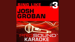 The Prayer Karaoke Instrumental Track In The Style Of Josh Groban