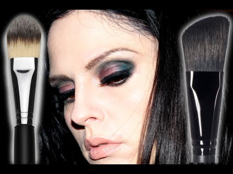 How to: Apply Foundation Sigma F60 Foundation Brush & E.L.F. Angled Foundation Brush