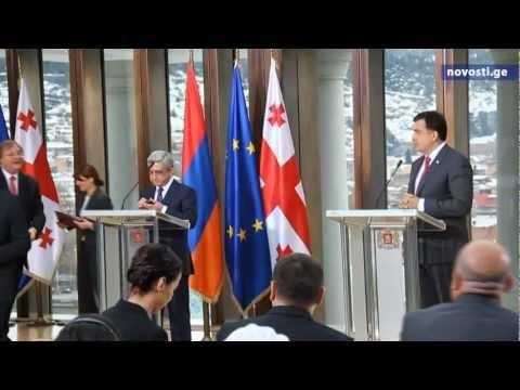 Встреча президентов Грузии и Армении Music Videos